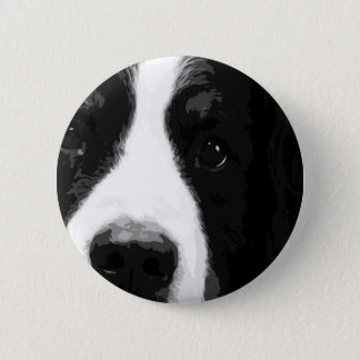 A black and white Bernese mountain dog 2 Inch Round Button