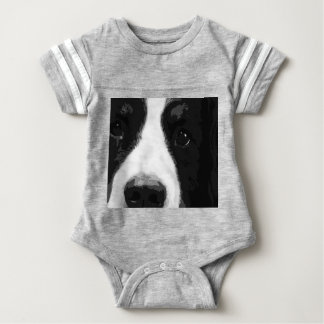 A black and white Bernese mountain dog Baby Bodysuit