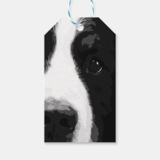 A black and white Bernese mountain dog Gift Tags