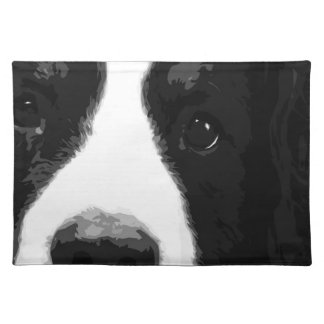 A black and white Bernese mountain dog Placemat
