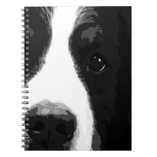 A black and white Bernese mountain dog Spiral Notebook