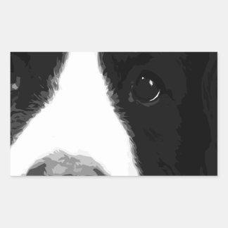 A black and white Bernese mountain dog Sticker