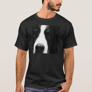 A black and white Bernese mountain dog T-Shirt