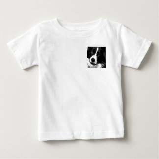 A black and white Border collie Baby T-Shirt