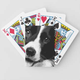 A black and white Border collie Bicycle Playing Cards