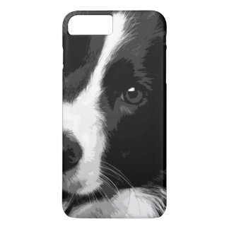 A black and white Border collie Case-Mate iPhone Case