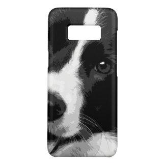 A black and white Border collie Case-Mate Samsung Galaxy S8 Case