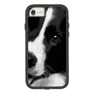 A black and white Border collie Case-Mate Tough Extreme iPhone 8/7 Case