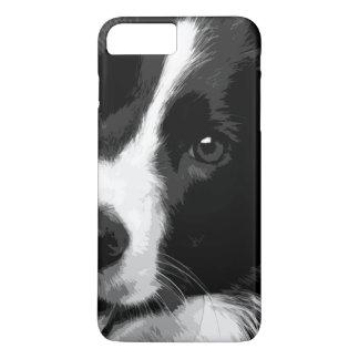 A black and white Border collie iPhone 8 Plus/7 Plus Case