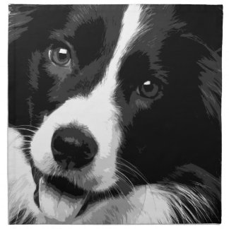 A black and white Border collie Napkin