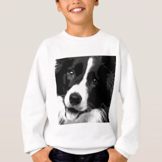 A black and white Border collie Sweatshirt