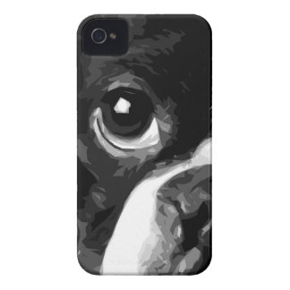 A black and white Boston terrier iPhone 4 Cases
