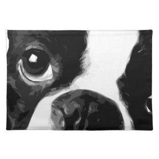A black and white Boston terrier Placemat