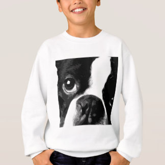 A black and white Boston terrier Sweatshirt