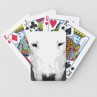 A black and white Bull terrier Bicycle Playing Cards