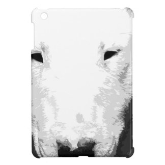 A black and white Bull terrier Case For The iPad Mini