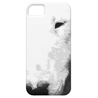 A black and white Bull terrier iPhone 5 Cover