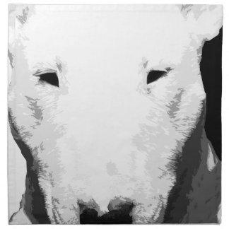 A black and white Bull terrier Napkin