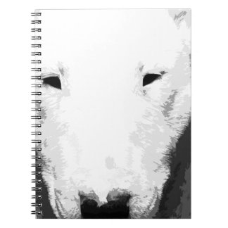 A black and white Bull terrier Notebooks