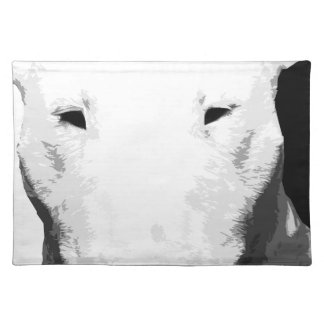 A black and white Bull terrier Placemat