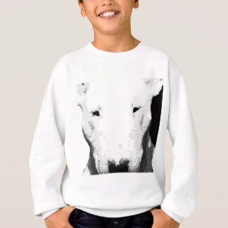 A black and white Bull terrier Sweatshirt