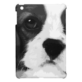 A black and white Cavalier king charles spaniel iPad Mini Case