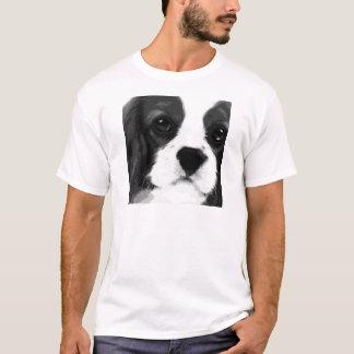 A black and white Cavalier king charles spaniel T-Shirt