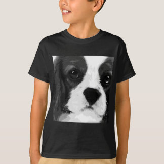 A black and white Cavalier king charles spaniel T-Shirt
