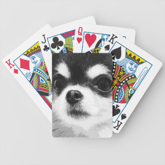 A black and white Chihuahua Bicycle Playing Cards