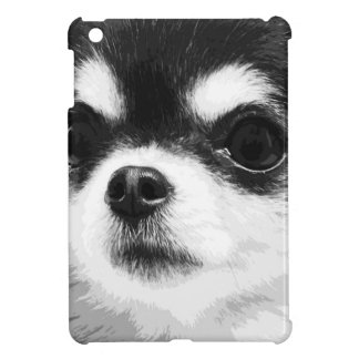 A black and white Chihuahua Cover For The iPad Mini