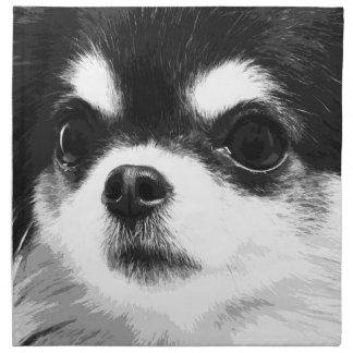 A black and white Chihuahua Napkin