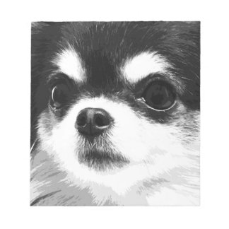A black and white Chihuahua Notepad