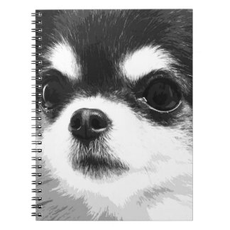 A black and white Chihuahua Spiral Notebook