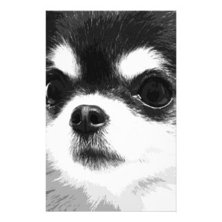 A black and white Chihuahua Stationery