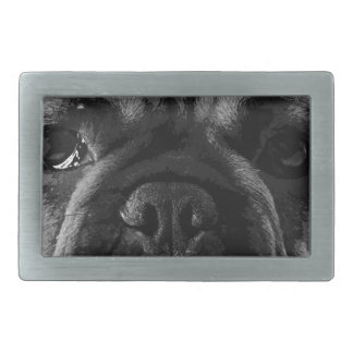 A black and white French bulldog Belt Buckle