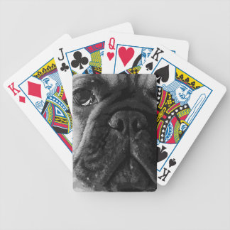 A black and white French bulldog Bicycle Playing Cards