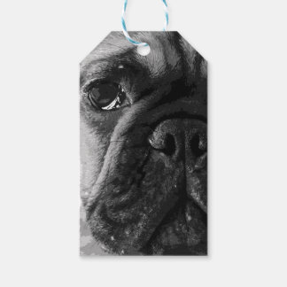 A black and white French bulldog Gift Tags