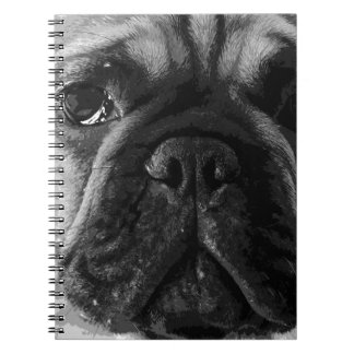 A black and white French bulldog Notebook