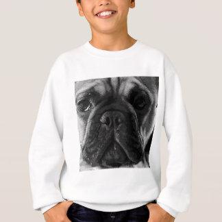 A black and white French bulldog Sweatshirt