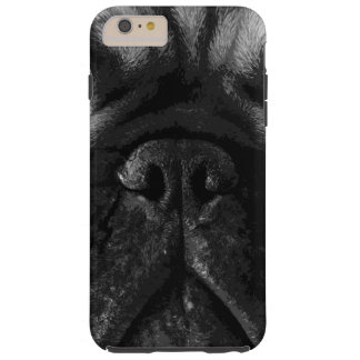 A black and white French bulldog Tough iPhone 6 Plus Case