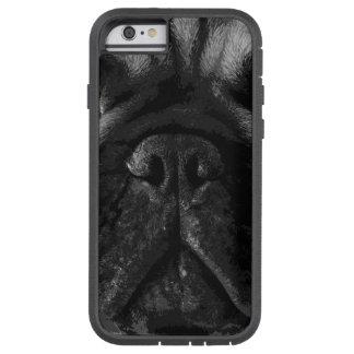 A black and white French bulldog Tough Xtreme iPhone 6 Case