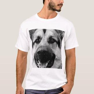 A black and white German Shepherd Dog T-Shirt