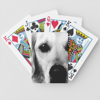 A black and white Golden retriever Bicycle Playing Cards