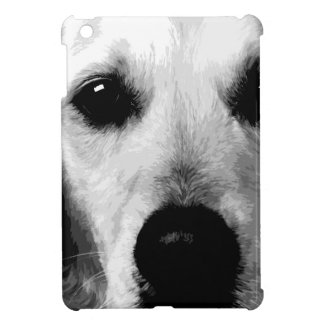 A black and white Golden retriever Case For The iPad Mini