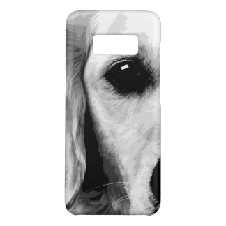 A black and white Golden retriever Case-Mate Samsung Galaxy S8 Case