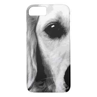 A black and white Golden retriever iPhone 8/7 Case