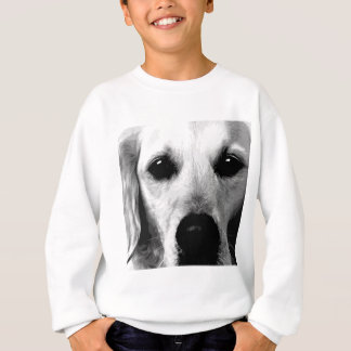 A black and white Golden retriever Sweatshirt