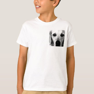 A black and white Golden retriever T-Shirt
