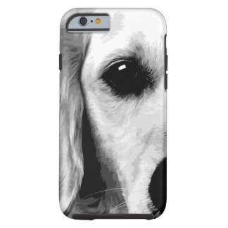 A black and white Golden retriever Tough iPhone 6 Case