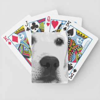 A black and white Labrador retriever Bicycle Playing Cards